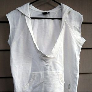 White Hurley Beach Hoodie Top Shirt Large